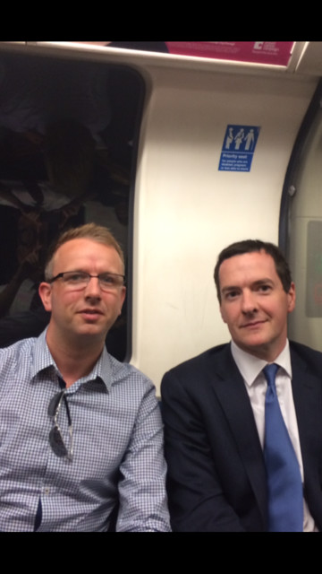 Alistair Pyatt's chance meeting with the Chancellor George Osborne