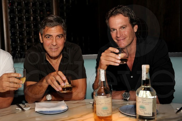 George Clooney, his tequila and co-founder Rande Gerber