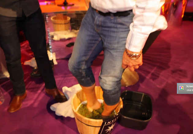 Graham Norton gets his feet wet!