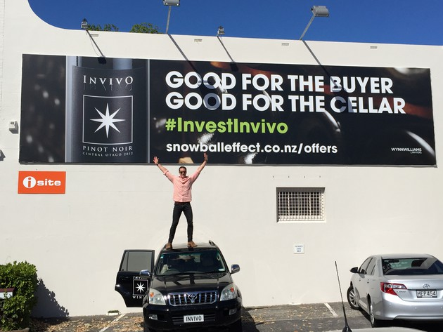 Tim Lightbourne helping to promote Invivo's crowdfunding initiative