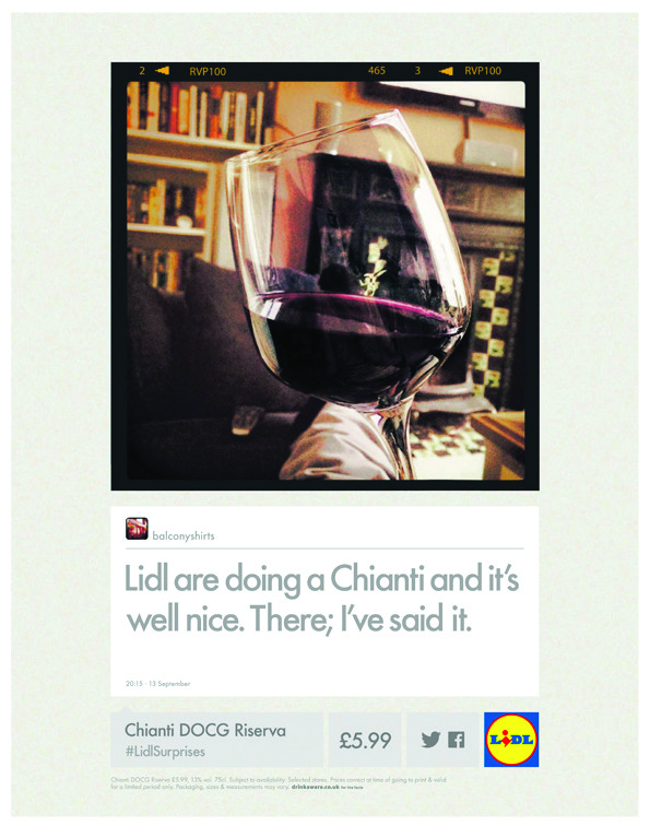Lidl's new wine advertising campaign