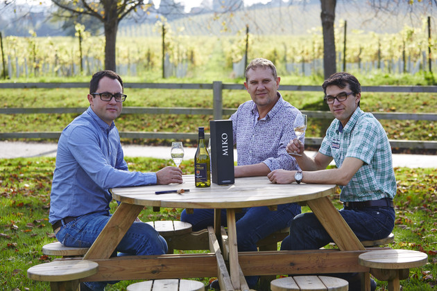The Litmus Wine Team, Jon Worontschak, Mike Florence and winemaker Matthieu Elzinga