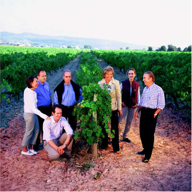 Torres Family in vineyard