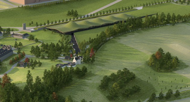 The proposed new Macallan distillery, Speyside