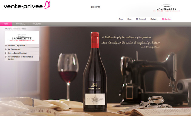 Vente-privee.com says it average wine sale in the UK is turning over 10,000 EUR.